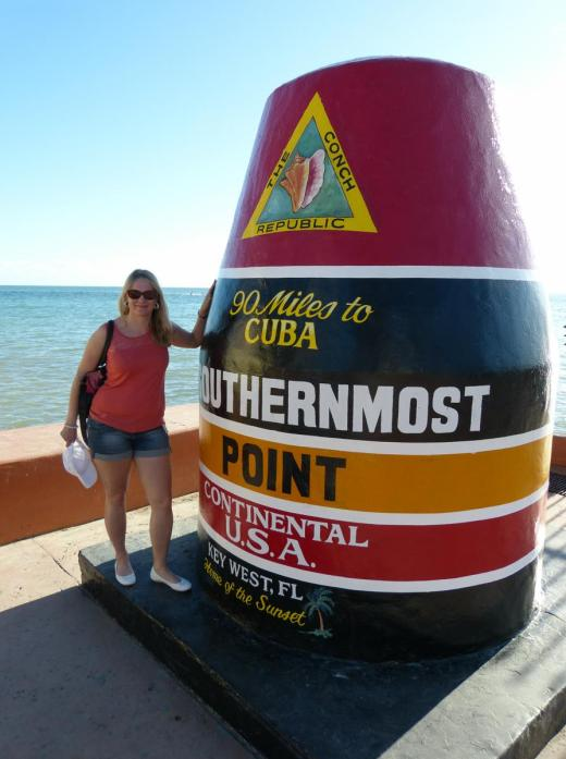 Am Southernmost Point of USA in Key West