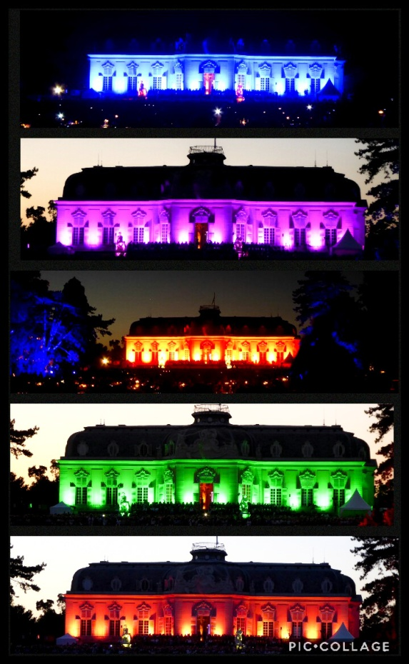 Collage Benrather Lichterfest - Schloss in allen Farben_edited